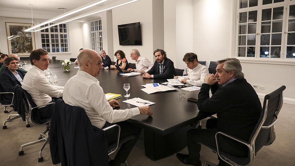 Reunión del Presidente con Kicillof y Rodríguez Larreta