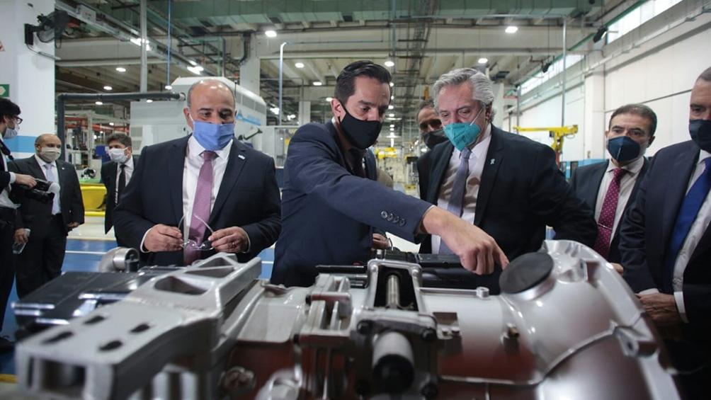 En noviembre, Alberto Fernández visitó la planta de la firma en ocasión del anuncio de inversiones por 45 millones de dólares.