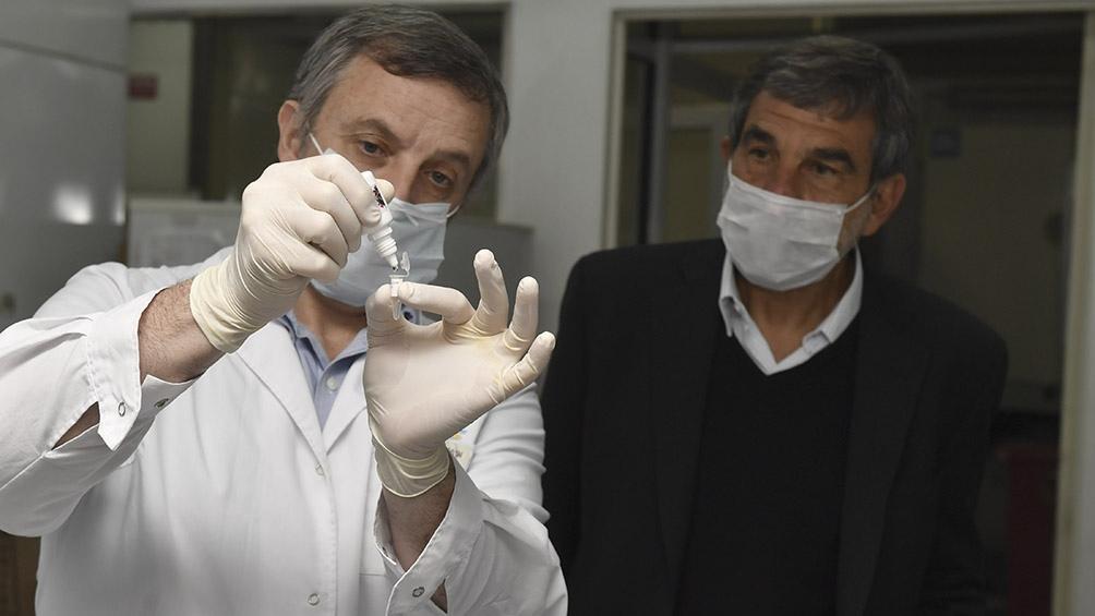 El equipo logró crear esta tecnología gracias a su trabajo previo con un kit para detectar el dengue. Foto: Alejandro Santa Cruz (Télam).