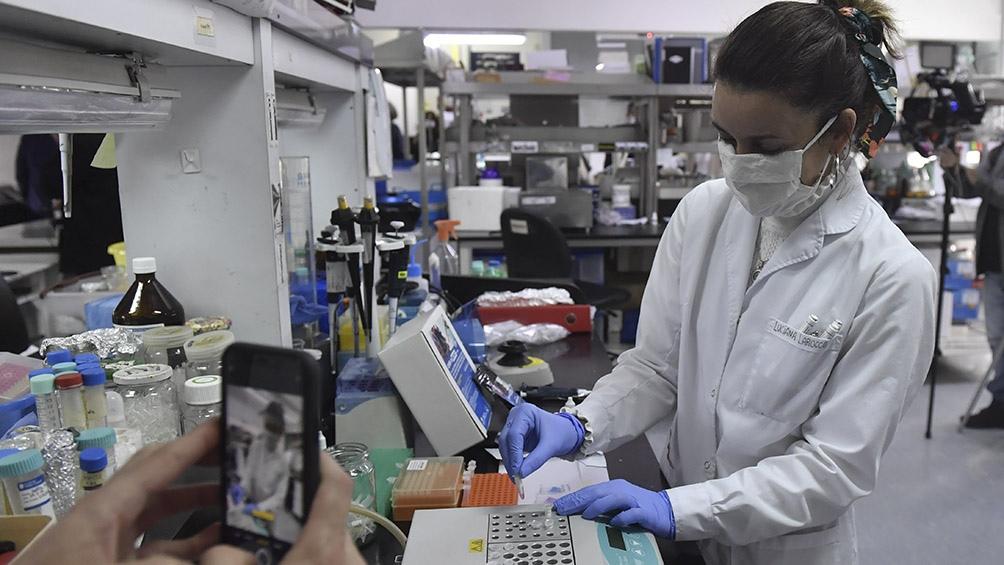 El ANLIS-Malbrán contribuyó con la provisión de las muestras de ARN purificado de pacientes positivos y negativos para el test de validación. Foto: Alejandro Santa Cruz (Télam).