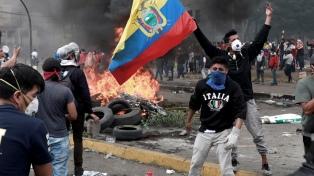 Crecen las protestas en Ecuador contra el paquete de ajuste del Gobierno