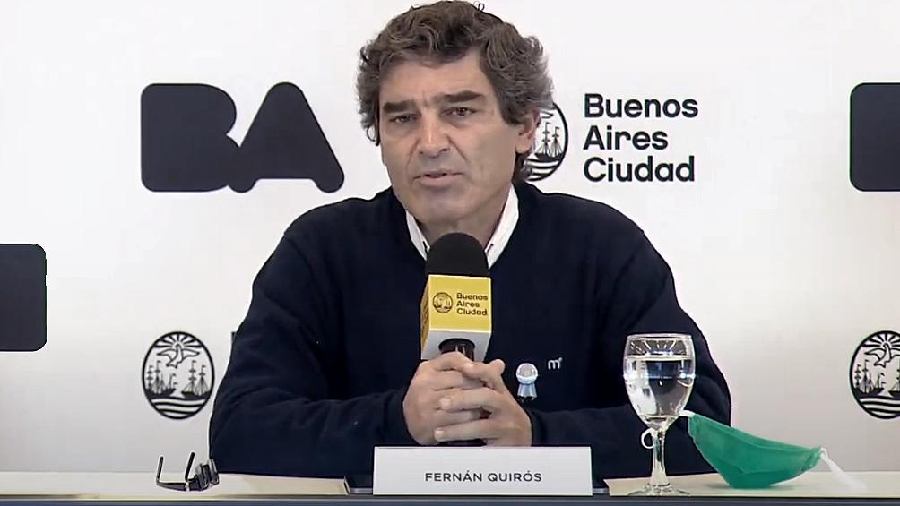 A Quirós la protesta le preocupó por lo sanitario pero dijo que es entendible