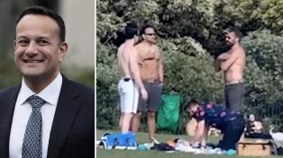 Polémica en Irlanda por fotos del primer ministro tomando sol en un parque