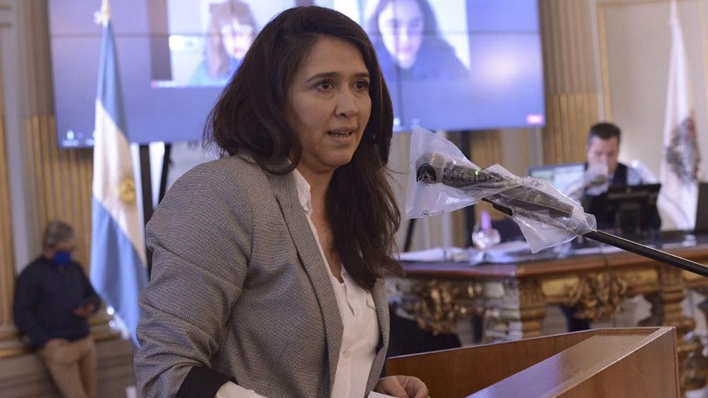 La diputada denunció el desalojo de una mujer y sus ocho hijos