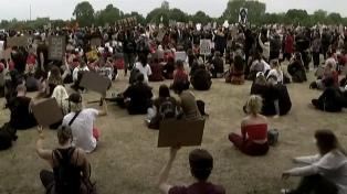 Caos y enfrentamientos en el centro de Londres durante las protestas antirracistas