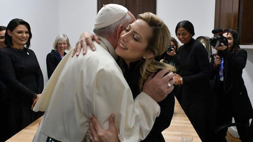 En el Vaticano, junto al papa Francisco.