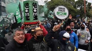 Incidentes en protesta de gremialistas de la ciudad de Córdoba