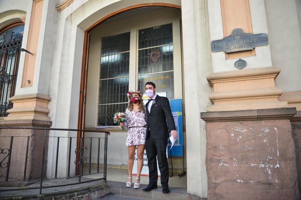 La pareja se conoció en Buenos Aires y al principio mantuvieron su relación a la distancia. Foto: Edgardo Valera (Télam)