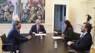 Fernández y Uñac firmaron un convenio y San Juan adhirió al programa Argentina Construye