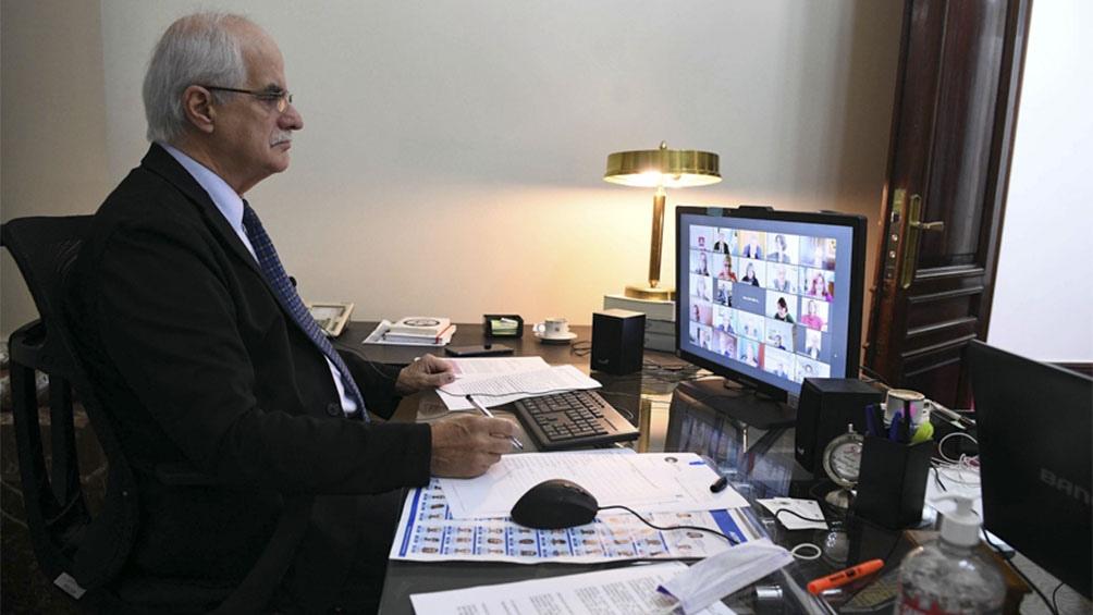 El senador Jorge Taiana participó de la videoconferencia