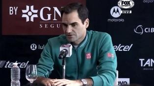 "Roger Federer: ""Lo peor ya quedó atrás"""