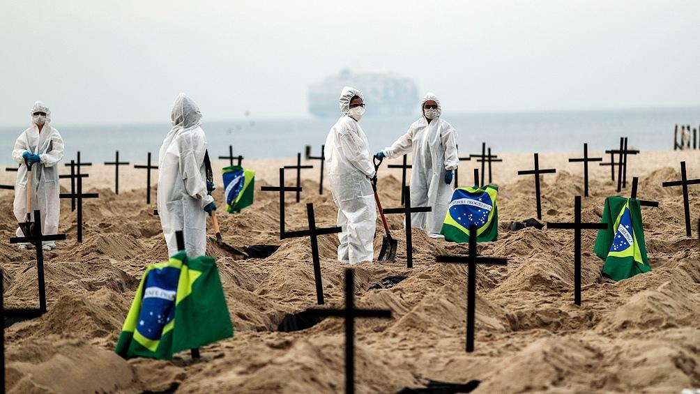 Brasil es el segundo país con más contagios y más muertes por coronavirus