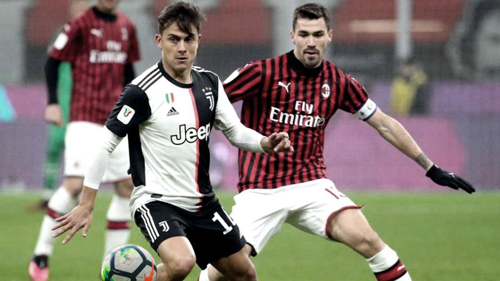 Juventus recibe al Milan por la Copa Italia en el regreso oficial del fútbol italiano