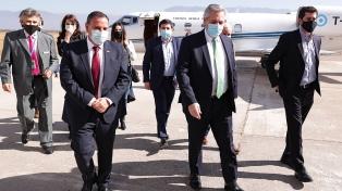 Agenda federal: Fernández arribó a La Rioja
