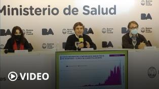 Quirós dijo que el aumento de casos se debe a la ampliación de los testeos en la Ciudad