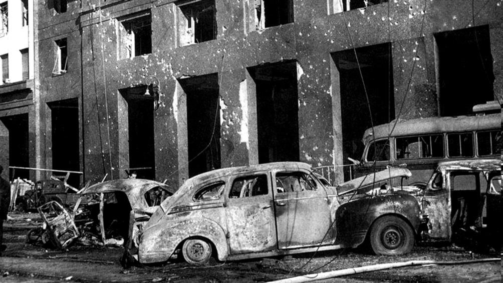 Perón se refugió en los subsuelos del edificio Libertador