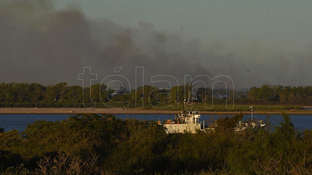 Incendios en el delta del Paraná