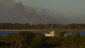 Incendio humedales río Paraná