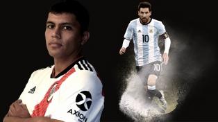 """Sueño con poder marcar a Messi"", dijo el defensor de River Robert Rojas"