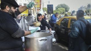 Taxistas protestan en el Obelisco por el funcionamiento de las aplicaciones de pasajeros