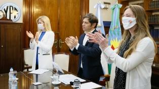 Kicillof conmemoró el Día de la Bandera con un encuentro virtual con alumnos