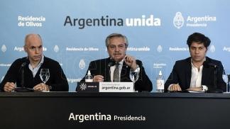 Fernández, Kicillof y Larreta anuncian la extensión de la cuarentena con mayores restricciones