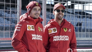 Ferrari volvió a los entrenamientos con sus pilotos Vettel y Leclerc