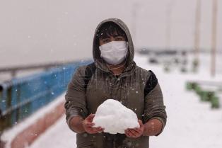 Primera nevada del año en Río Gallegos