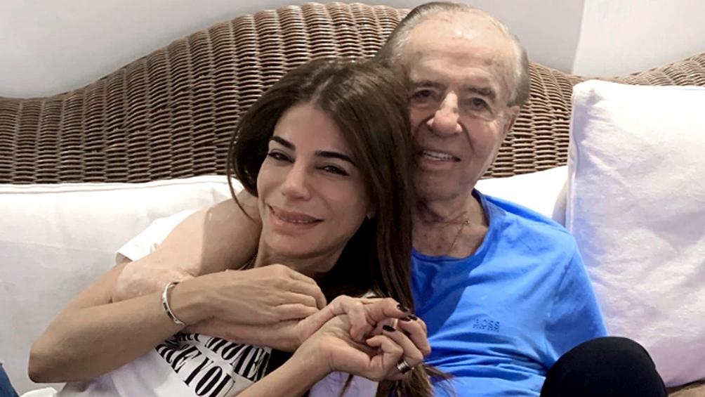 Con su hija Zulemita, en una de sus últimas fotos.