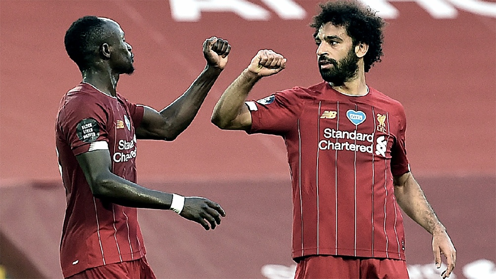 Mane y Salah, dos de las figuras del Liverpool.