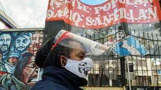 Movimientos sociales de izquierda se manifestaron sobre el Puente Pueyrredón