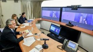 Alberto Fernández realizó una videoconferencia con la primera ministra de Finlandia