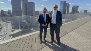 """Urribarri destacó la """"cooperación en áreas científica y tecnológica"""" con Israel"""