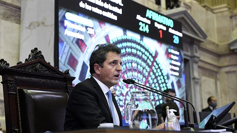 Sergio Massa, presidente de la Cámara de Diputados de la Nación