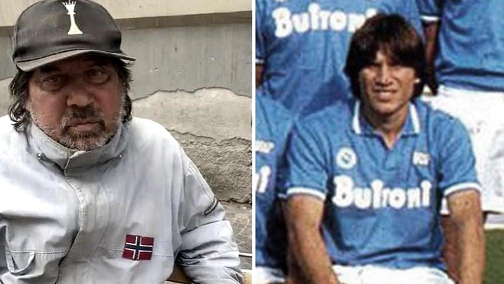 Un compañero de Maradona en el Nápoli campeón de 1987 es indigente