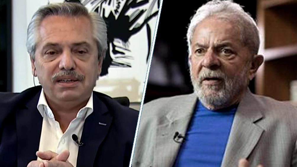 """O Presidente Alberto Fernández e """"Lula"""" Da Silva"""