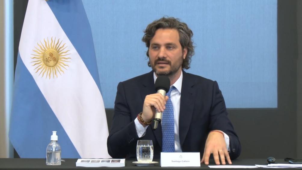 """Cafiero dijo que Macri dejó una deuda """"insostenible, impagable, que se había tomado de forma muy irresponsable, con plazos que no se podían cumplir""""."""