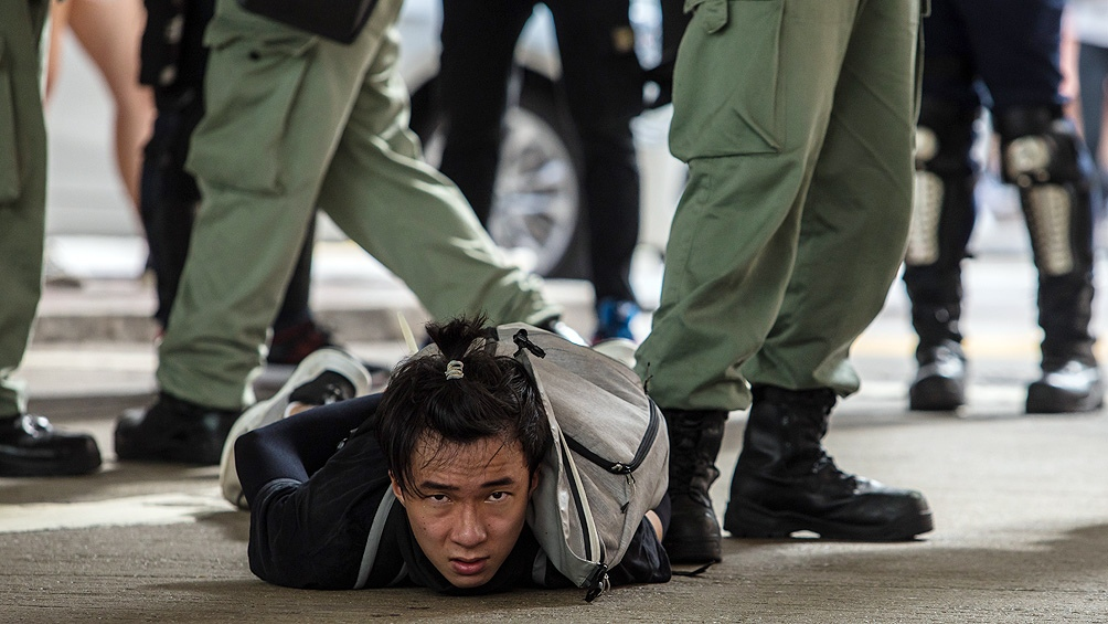 Multitudinarias manifestaciones prodemocracia en Hong Kong