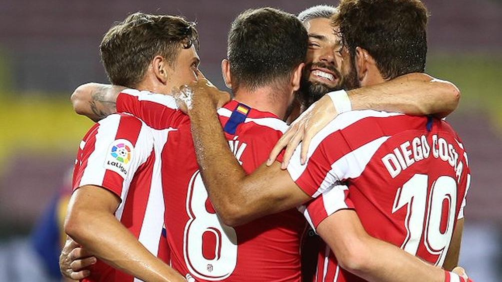 El equipo de Simeone ahora se ubica puntero en soledad, por sobre el Real Madrid, su escolta