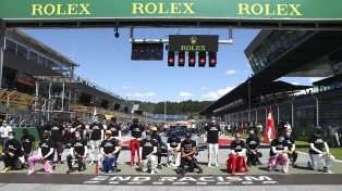 Los pilotos de la Fórmula 1 se unieron a la lucha contra el racismo
