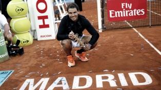 Nadal confirma que jugará el Masters 1000 de Madrid en septiembre