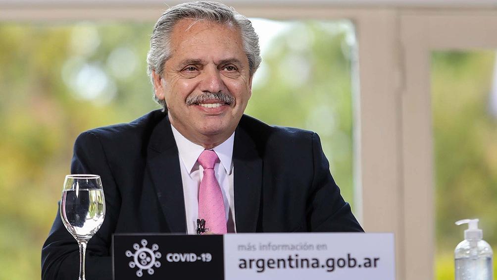 El Presidente participó del anuncio mediante videoconferencia, desde Olivos