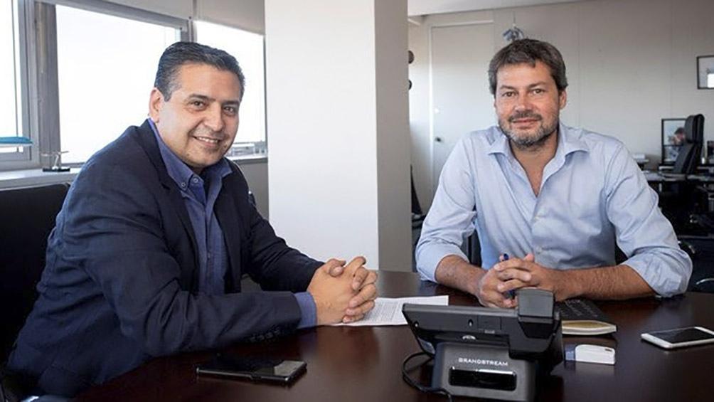 El ministro de Turismo y Deportes, Matíás Lammens junto al secretario ejecutivo del Inproptur, Ricardo Sosa