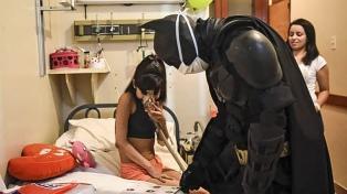 """El """"Batman Solidario"""" de La Plata alista su """"Baticueva"""" para recibir a niñas y niños en tratamiento"""