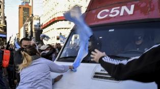 Radio y Televisión Argentina repudió el ataque contra periodistas de C5N