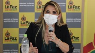 La semana pasada, la presidenta Áñez comunicó que dio positivo.