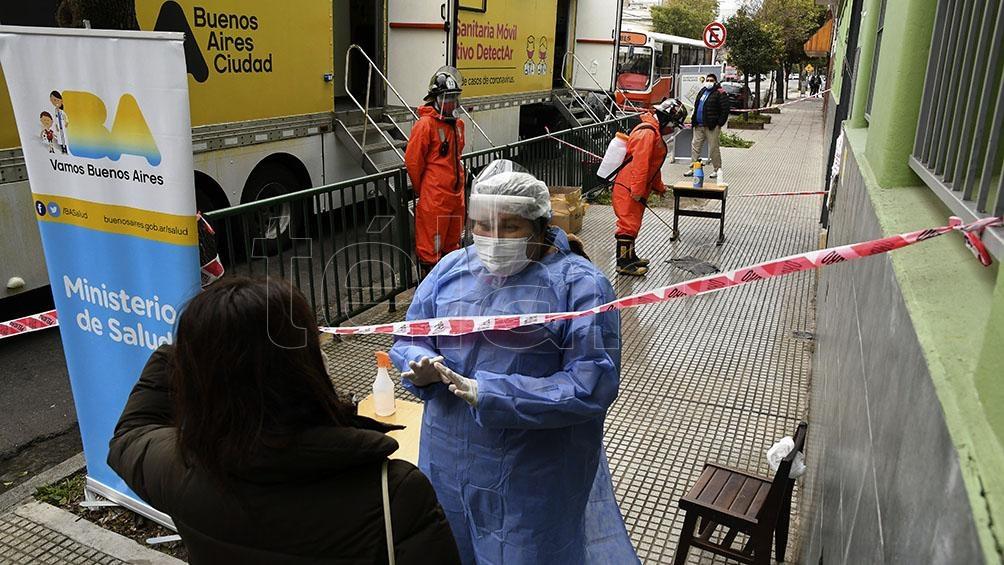 Desde marzo, fueron realizados un total de 150.855 hisopados a residentes de la Ciudad de Buenos Aires