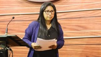 Eva Copa es titular del Senado de Bolivia y número dos en la línea de sucesión presidencial