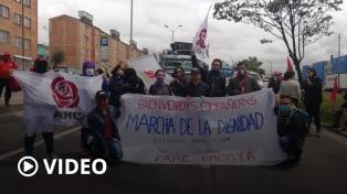 Organizaciones sociales, campesinas e indígenas llegan a Bogotá para reclamar el fin de la violencia