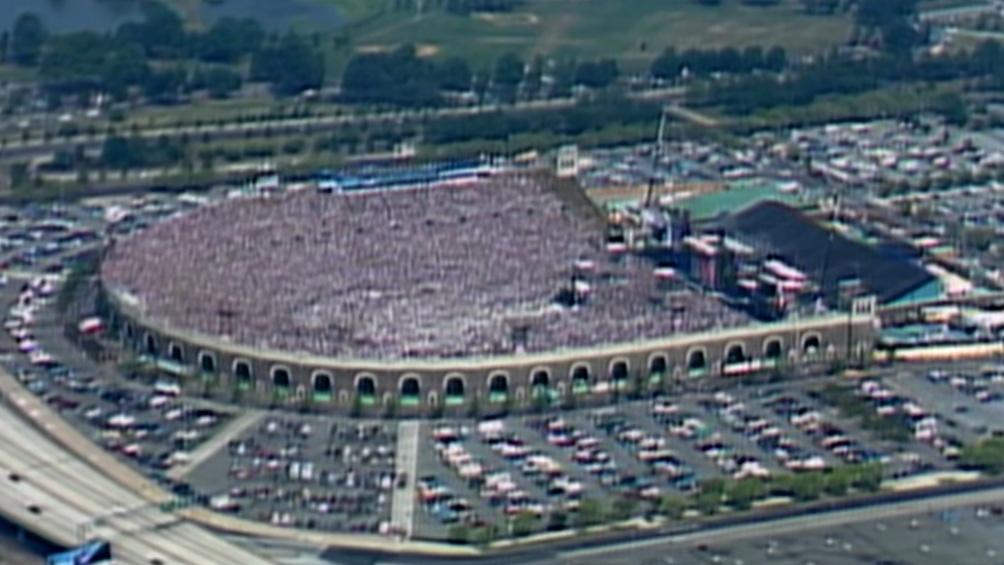 Estadio JFK en Filadelfia que celebró en simultaneo el Live Aid el mismo día que se relizaba en Wembley